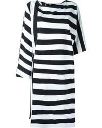 Y-3 Asymmetric Striped T Shirt Dress