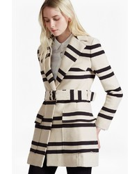 Escher stripes belted mac medium 3649588