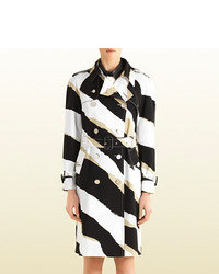 Gucci Zebra Print Trench Coat