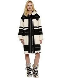 Isabel Marant Striped Wool Blend Blanket Coat