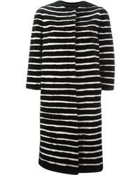 Liska striped mink fur coat medium 3649583