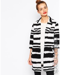 Girls On Film Petite Stripe Duster Coat