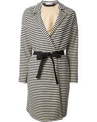 Striped belted coat medium 1357316