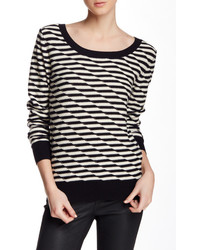 14th Union Disrupted Stripe Crew Neck Sweater
