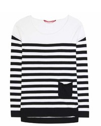 81 Hours 81hours Antony Striped Cotton And Cashmere Sweater