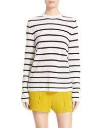 A.L.C. Tula Stripe Cashmere Surplice Back Sweater