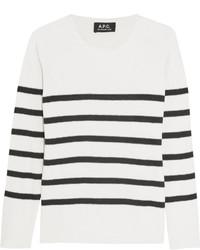 Apc Atelier De Production Et De Cration Striped Silk Sweater