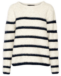Line Beaufort Striped Intarsia Knit Sweater