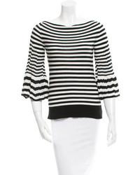Sonia Rykiel Bell Sleeve Striped Sweater