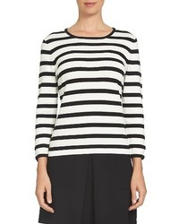CeCe Bow Sleeve Stripe Top