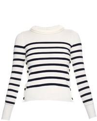 Alexander McQueen Breton Stripe Fine Wool Sweater