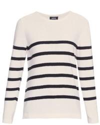 A.P.C. Breton Striped Silk Knit Top