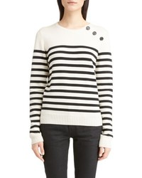 Button detail stripe sweater medium 6717153