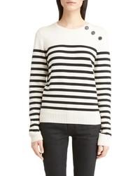 Button detail stripe sweater medium 6717153