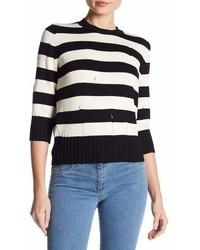 Veronica Beard Cape Dropped Stitch Sweater