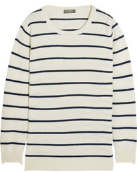 N.Peal Cashmere Striped Cashmere Sweater