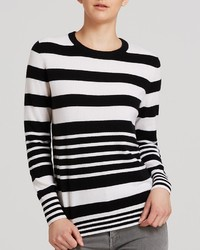 Aqua Cashmere Sweater Variegated Stripes