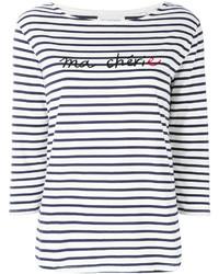 Chinti parker striped slogan top medium 6717152