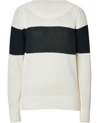 Closed Cotton Mesh Pullover