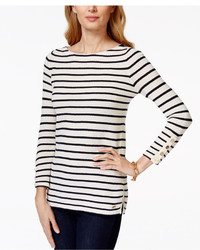 Tommy Hilfiger Dawn Striped Boat Neck Sweater