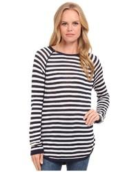 Splendid Easel Contrast Stripe Pullover