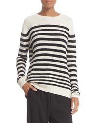 Engineered stripe wool blend pullover medium 1159139