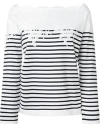 Ermanno Scervino Off Shoulder Striped Sweater