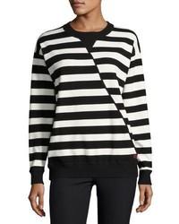 Grey Jason Wu Oversized Striped Sweater