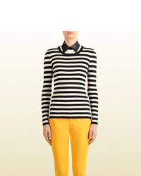 Gucci Striped Silk Cashmere Sweater
