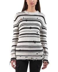 Iro . Jeans Iro Jeans Iane Distressed Striped Sweater