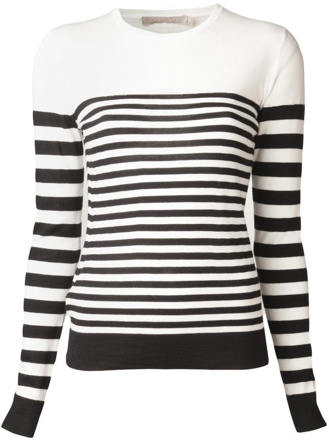 Jason Wu Cashmere Striped Pullover Sweater