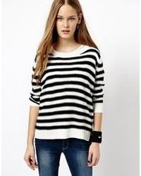 Jdy Striped Crew Neck Knitted Sweater