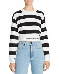 Rag & Bone Jean Striped Cropped Sweater