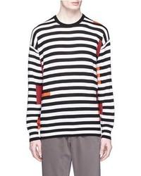 Paul Smith Jeans Stripe Colourblock Wool Knit Sweater