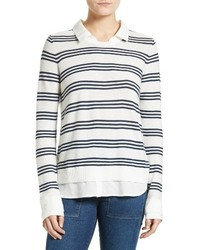 Joie Rika J Layered Look Stripe Sweater