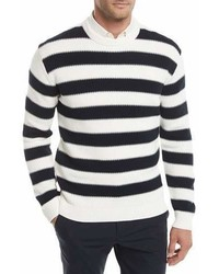 Theory Mareen Striped Breach Sweater