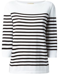 Michael Kors Michl Kors Striped Boat Neck Sweater