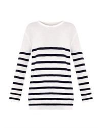 MiH Jeans Mih Jeans Slouch Breton Stripe Wool Sweater