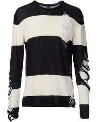 Miharayasuhiro Mihara Yasuhiro Distressed Striped Sweater