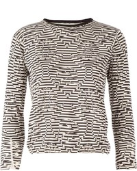 Thom Browne Op Art Striped Sweater