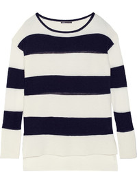 Vince Ottoman Striped Wool Blend Sweater