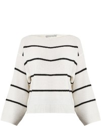 Vince Oversized Striped Cashmere Sweater