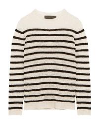 The Elder Statesman Picasso Striped Cashmere Sweater