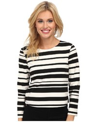Sam Edelman Stripe Boat Neck W Zipper Back