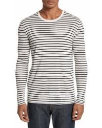 Stripe silk blend sweater medium 6984171