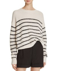 Vince Striped Boucl Cashmere Sweater