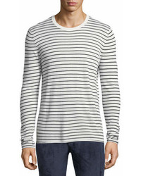 ATM Anthony Thomas Melillo Striped Cashmere Blend Sweater