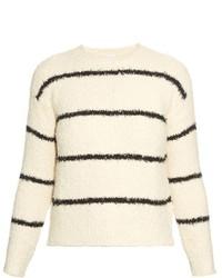 Brunello Cucinelli Striped Cotton Blend Boucl Knit Sweater
