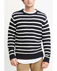 Forever 21 Striped Cotton Blend Sweater