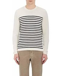 Piattelli Striped Cotton Crewneck Sweater